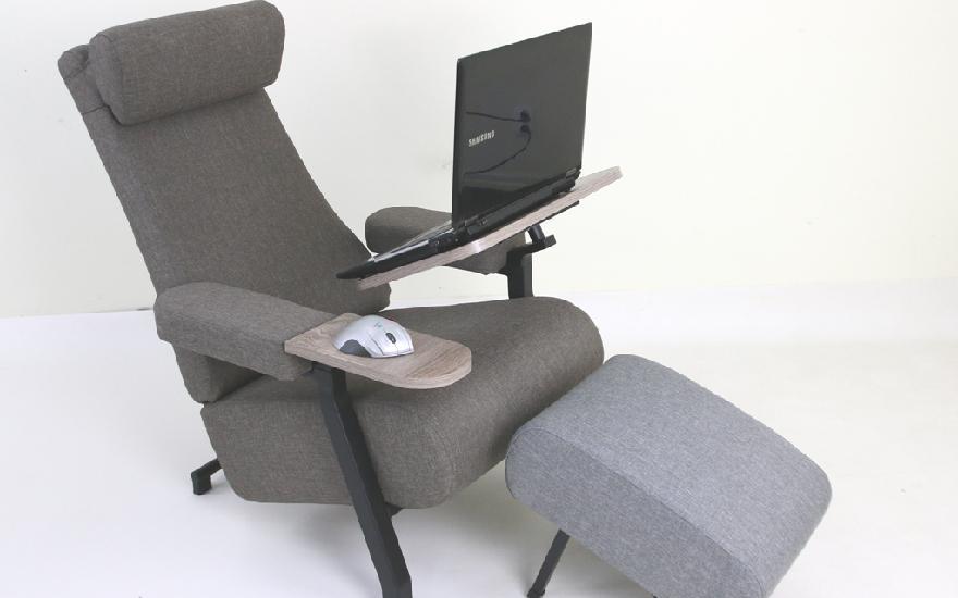 fotel przystosowany dopracy nalaptopie